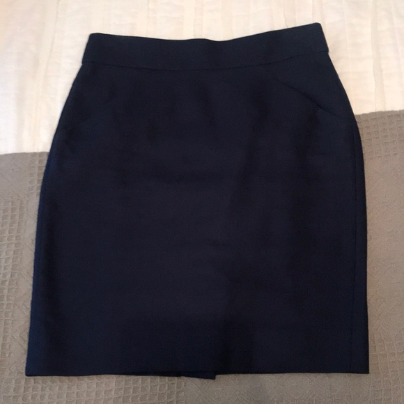 J. Crew Dresses & Skirts - J. Crew Navy Blue Pencil Skirt, 00P